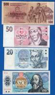 Tchéquie  2  Billets +  2  Billets  Thécos - Czech Republic