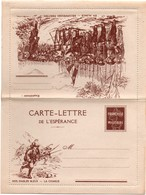 Carte-lettre De L'espérance - Franchise Militaire Avec Pseudo Semeuse - Nos Diables Bleus - La Charge - Alsace - Cartes De Franchise Militaire