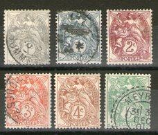 Lot N° 107_107a_108_109_110_111_*/°_1 Cachet Perlé Extérieur - 1900-29 Blanc