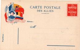 Carte Postale Des Alliés - Franchise Militaire Avec Pseudo Semeuse - Chasseur Alpin - édit Hiebler Lyon Nancy - Cartes De Franchise Militaire