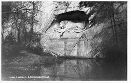 SWITZERLAND Postcard 1935 With Lion Statue.BARGAIN.!! - Monumenten