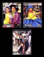 Bolivia 2015 Mih. 1983/85 Traditional Carnival Dances MNH ** - Bolivie