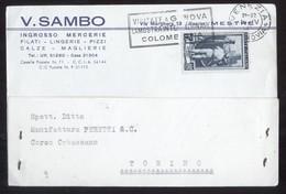 MESTRE - VENEZIA  - 1951 -  CARTOLINA COMMERCIALE - SAMBO - Venezia