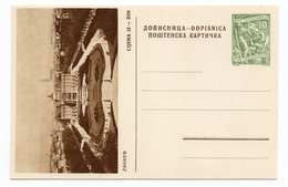 YUGOSLAVIA, CROATIA, ZAGREB, KAZALISTE,10 DINARA GREEN, NOT USED ILLUSTRATED POSTCARD - Croatia