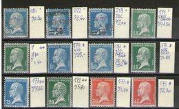 Lot De Pasteur °/*/**_voir Scan_cote 57.60 - 1922-26 Pasteur
