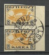 ESTLAND Estonia 1920 O Pärnu Auf Michel 13 Y Als Ein Paar O - Estland