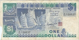 Singapur - Singapore 1 Dollar 1987 Pk 18 A Firma Goh Keng Swee Ref 2 - Singapur