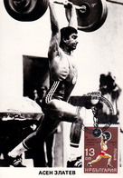 HALTÉROPHILE : ASEN ZLATEV / АСЕН ЗЛАТЕВ - OLYMPIC CHAMPION In 1980 - CARTE MAXIMUM : BULGARIA (ac015) - Weightlifting