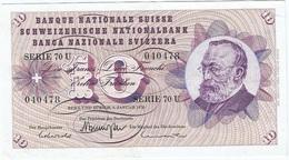 Suíza - Switzerland 10 Francs 5-1-1970 Pk 45 P.3 Firmas Brenno Galli, Leutwiler Y Abersold Ref 505 - Suiza