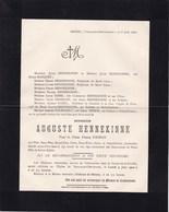 HENNE VAUX-SOUS-CHEVREMONT Auguste HENNEKINNE Veuf FRISON 74 Ans 1902 - Décès