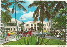W2513 Bahamas - Nassau - Carriages In Rawson Square - Auto Cars Voitures / Viaggiata 1973 - Bahamas