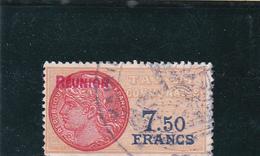 Timbre Fiscal Jaunâtre à 7,50 Avec Surcharge REUNION De Couleur Rouge - A Voir Par Courant - Revenue Stamps