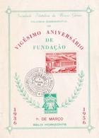 VIGESIMO ANIVERSARIO DE FUNDAÇAO SOCIEDADE FILATELICA DE MINAS GERAIS FOLHINHA COMEMORATIVA 1956 - BLEUP - Storia Postale