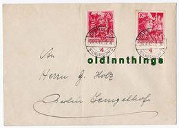 SA SS Mi. 909-910 Auf Brief Berlin Wilmersdorf 24.4.45 Stempel Nicht Prüfbar! - Allemagne