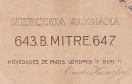 MERCERIA ALEMANA MITRE, NOVEDADES DE EUROPA, EMILIO KUENZLER-CPA ADVERTISING 1907 - BLEUP - Pubblicitari