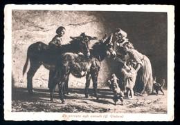 BELLA CARTOLINA SPEDITA NEL 1937 - LE CAREZZE AGLI ASINELLI - QUADRO DI PALIZZI - ANES - DONKEYS - Asino