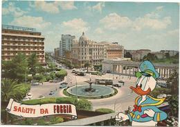W2519 Saluti Da Foggia - Piazza Cavour - Walt Disney - Paolino Paperino Donald Duck / Viaggiata 1978 - Disney