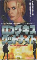Télécarte Japon / 110-016 - SOUVIENS TOI CHARLIE - THE LONG KISS GOODNIGHT - Japan Movie Phonecard - 11262 - Cinéma