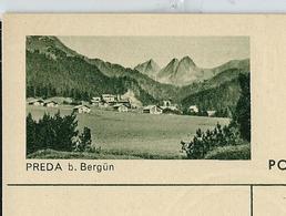 Carte Illustré Neuve N° 182 - 0293C  PREDA B. Bergün      (Zumstein 2009) - Ganzsachen