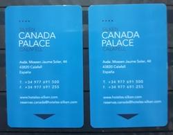 ESPAÑA 2 TARJETAS LLAVE - KEY HOTEL CANADA PALACE. VIÑA POMAR RIOJA, - Cartas De Hotels