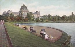 HANNOVER. MASCHPARK. CPA CIRCA 1900 - BLEUP - Hannover