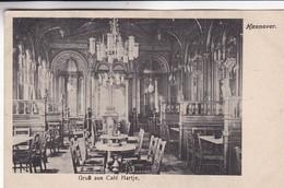 HANNOVER. GRUSS AUS CAFE HARTJE. CPA CIRCA 1900 - BLEUP - Hannover