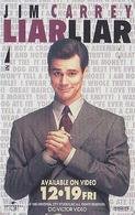 Télécarte Japon / 110-196387 - CINEMA FILM - LIAR LIAR / JIM CARREY - Japan Movie Phonecard - Kino Telefonkarte - 11264 - Cinéma