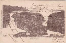 SALTO GUAIRA. EDITOR JUAN QUELL, ASUNCION. CPA VOYAGEE SIGNEE CIRCA 1919 RARE - BLEUP - Paraguay