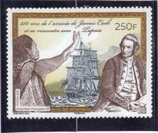 VV10 - Polynésie Française - James COOK Et Tupaîa Navigateur Polynésien. - Polynésie Française