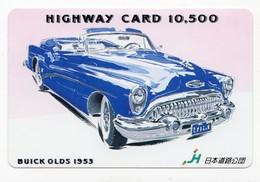 CARTE HIGHWAY PREPAID JAPON VOITURE BUICK OLDS 1953 - Voitures