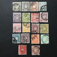 ◆◆◆ Japón 1899 -1907 Chrysanthemum Series Complete Used JP085 - Japon