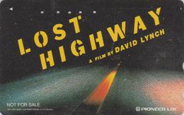 Télécarte Japon / 110-016 - CINEMA FILM - LOST HIGHWAY By DAVID LYNCH - Japan Movie Phonecard / Space - NFS 11265 - Cinéma