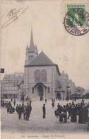 LAUSANNE. EGLISE ST.FRANÇOIS. CT&CIE. CIRCULEE 1908 A BUENOS AIRES. SIGNEE - BLEUP - VD Vaud