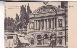 ROMA.FACCIATA DEL TEATRO DRAMMATICO NAZIONALE. ERNESTO RICHTER-CPA CIRCA 1900s - BLEUP - Places & Squares