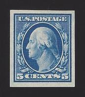 US #347 1908 Blue Imperf Wmk 191 Mint OG LH F-VF SCV $27.50 - Unused Stamps