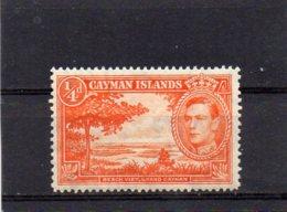 1938 GV1 Definitive Issue 1/4d MNH - Cayman Islands