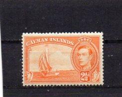 1938 GV1 Definitive Issue 2 1/2d Orange MNH - Cayman Islands