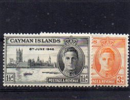 1946 GV1 Victory Pair MNH - Cayman Islands