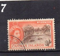 1953 QE11 Definitive Issue 1/- Used - Cayman Islands