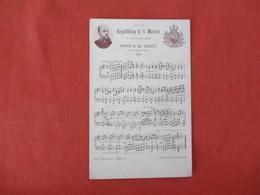 Song Card Republic Di S. Marino      Ref 3286 - San Marino