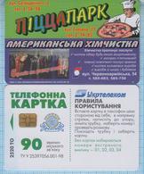 UKRAINE / Chernivtsi / Phonecard Ukrtelecom / Advertising Pizza Delivery. American Dry Cleaning 01/2004 - Ukraine