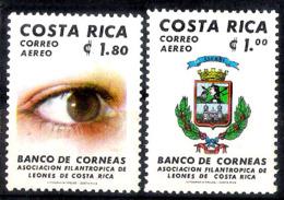 652  Cornea Bank - Costa Rica Yv 799-800 - MNH - Free Shipping - 1,75  A18 - Médecine
