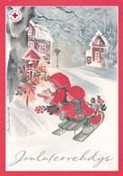 Postal Stationery - Elves - Children Feeding Little Birds - Red Cross - Suomi Finland - Postage Paid - Finlande
