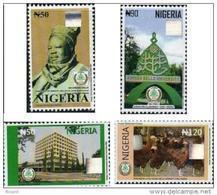 Nigeria 2012 Ahmadu Bello University 50 Years And Birds 4v Hologram Mint - Nigeria (1961-...)
