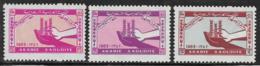 Saudi Arabia Scott # 274-6 MNH Freedom From Hunger, 1963 - Saudi Arabia