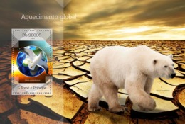 Sao Tome 2014 Fauna  Global Warming  Polar Bear - Sao Tome And Principe
