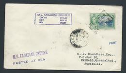 Trinidad & Tobago 1940 's Paquebot Cover To Australia Per MV Canadian Cruiser - Trinidad & Tobago (1962-...)