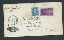 United States US 1933  Queen Mary Ship Cover To Shrewsbury England - Postal History