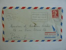 France Lettre  Timbre  Marianne De Muller, N°1011 C  25 F. Rouge, Type 1 Flamme  Xeme Foire Du Havre Avril 2019 Clas Let - Marcofilie (Brieven)