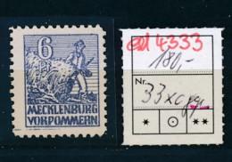SBZ Nr. 33X C  ** -geprüft /signiert     (ed4333  ) Siehe Scan - Zone Soviétique